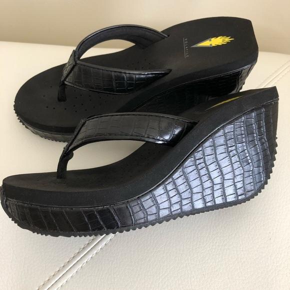 e4525cb72e Volatile Shoes | Black Goldmine Wedges Size 8 | Poshmark